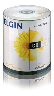 Cd-r Elgin 700mb 80min Pino 100 Un. Printable 82093/82045