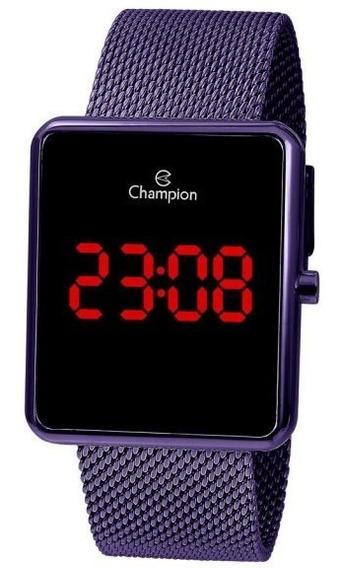 Relógio Champion Unissex Digital Ch40080l Uva Quadrado