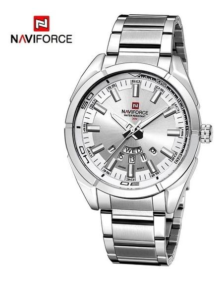 Naviforce Nf9038m Relógio Quartz Masculino - Prata