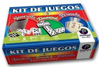 Kit Juegos 3 En 1 ( Generala/ Domino Y Perinola )