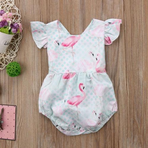 Romper Flamingos Para Bebê