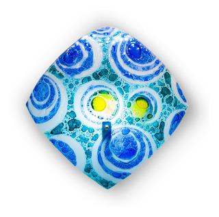 Lámpara Techo Cristal Burbuja Turquesa