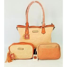 Bolsa Feminina Kit 3 Bolsas Grande Pequenas