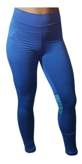 Id294 Calza Larga Azul Mujer Hartl Entrenamiento