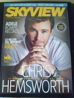 Revista Sky Chris Hemsworth , Adele , Creed , Paussini, Cuba
