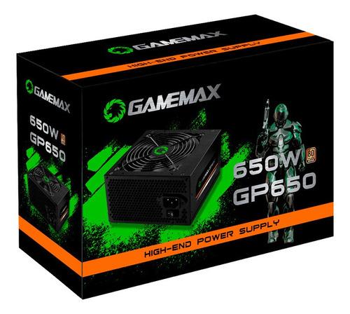 Fonte Alimentacao Preta 650w Gamemax Gp650 80 Plus Bronze