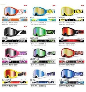 Oculos Motocross E Enduro Bike 100% Strata Espelhado