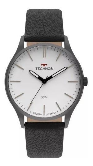 Relógio Technos Masculino Pulseira Em Couro Slim Moderno E Elegante Ref. - 2035mqq/2b