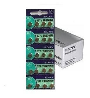 Bateria 377 Sony Sr626sw Original Cartela Com 20 Unidades