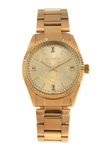 Relógio Analógico Feminino Crystal Chilli Beans Dourado