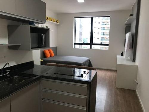 Studio Com 1 Dormitório Para Alugar, 26 M² Por R$ 1.600,00/mês - Bethaville I - Barueri/sp - St0015