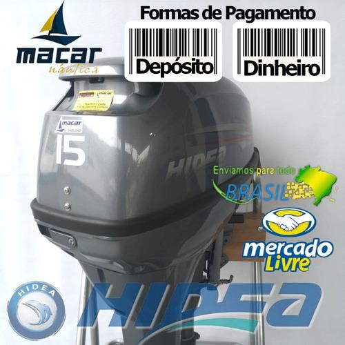 Motor De Popa Hidea 15hp 2 Tempos - A Vista - Pronta Entrega