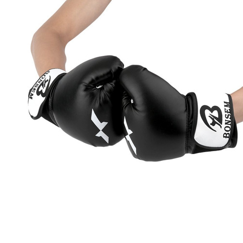 SOONHUA forro de esponja profesional de piel sint/ética guantes de boxeo de arena guantes de entrenamiento Guantes de boxeo de esponja de compresi/ón transpirables