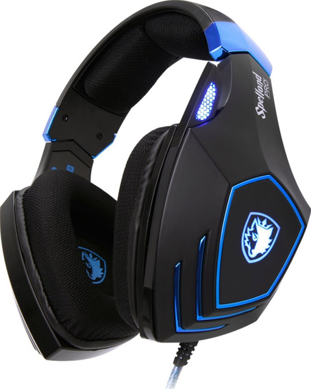 Sades Headset Gamer Profissional Top Spellond Pro Vibra