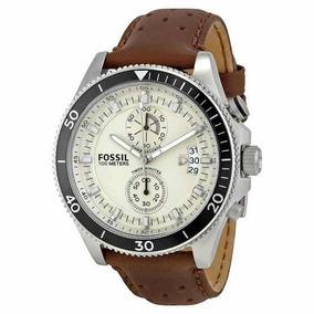 Relógio Fóssil Masculino Pulseira Couro Genuíno Cód Ch2943