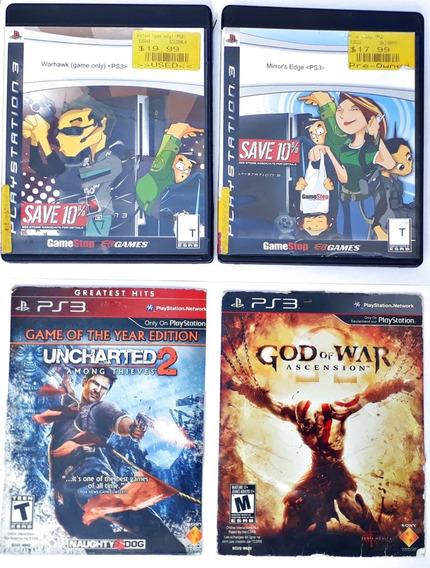 Kit Jogos Mirrors God Of War Uncharted Warhawk Ps3 Originais