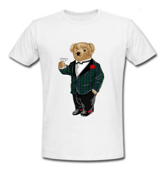 Playera Polo Bear Smoking