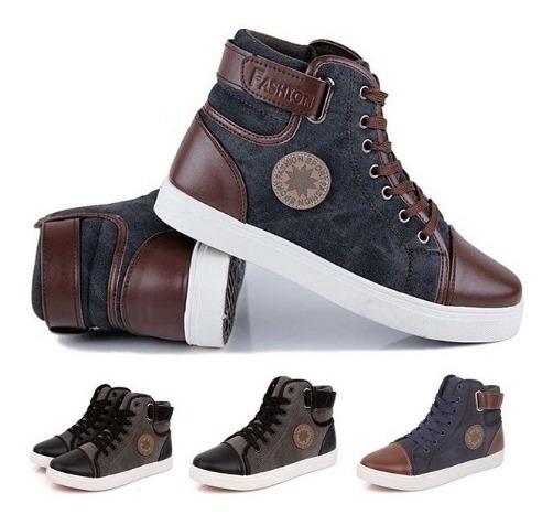 Sapatos De Lona De Alta Top Respirável Sapatilhas Plus Size
