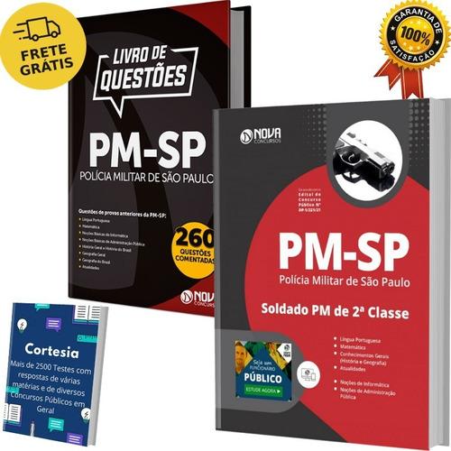 Kit Apostila Pm Sp + Livro Questões Polícia Militar Soldado
