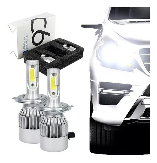 Kit Lampada Led Automotiva H1 6000k Super Branca Tipo Xenon