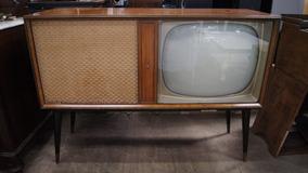 Vitrola Philips Pé Palito Anos 60 Com Televisor Radio Disco