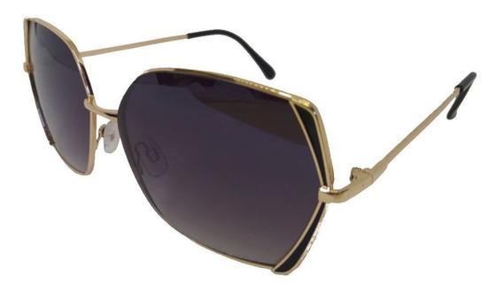 Óculos De Sol Exclusivo Blogueiras Retângulo Preto