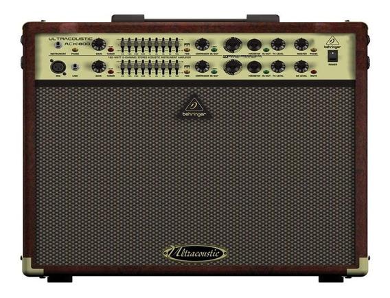 Amplificador Behringer Para Violão Acx1800 180w 220v