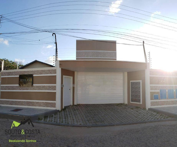 Apartamento Com 2 Dormitórios À Venda, 50 M² Por R$ 155.000 - Parque Potira - Caucaia/ce - Ap0056