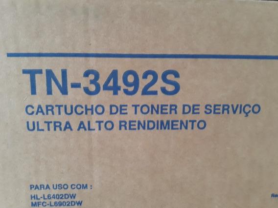 Cartucho De Toner Brother Tn3492 Original Para Recarga
