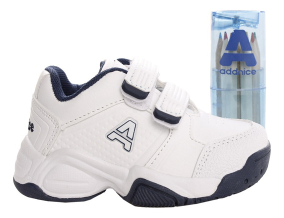 Zapatillas Addnice Baby Classic Beta Abrojo + Lapicero Bl/az