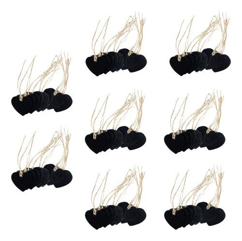 80 Peças De Coração De Madeira Pendurado Quadro-negro
