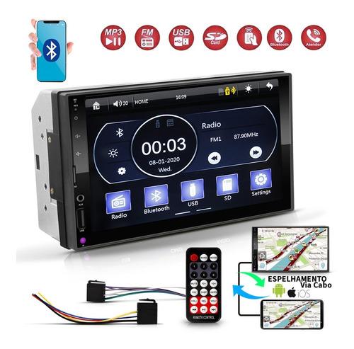 Dvd 2 Din Central Multimídia Mp5 Bluetooth Espelhamento 4x50