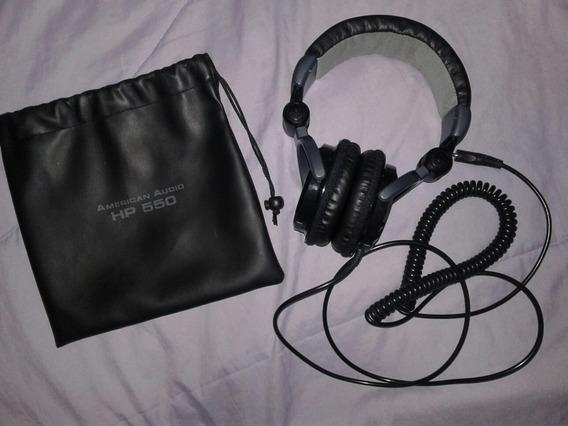 30$ Audífonos American Audio Hp 550 Negros De Dj Sonido