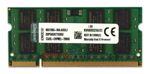 Memória RAM ValueRAM  2GB 1x2GB Kingston KVR800D2S6/2G