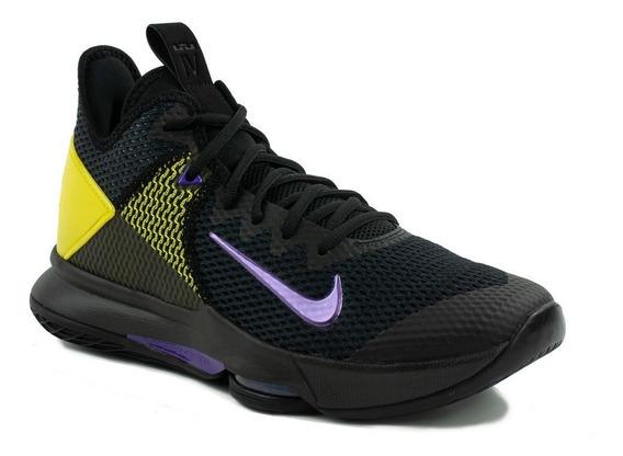 Tenis Nike Lebron Witness Iv Negro, Morado,amarillo,nuevos