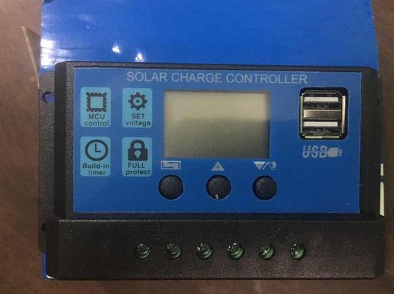 Controlador De Carga Ootdty 30a Dual Usb Solar Battery