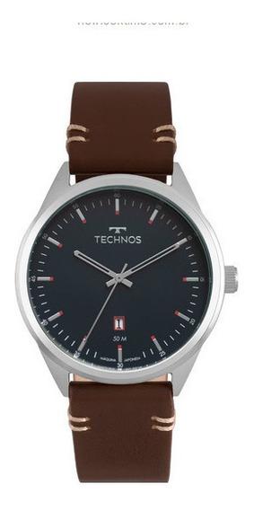 Relógio Technos Masculino Social De Couro 2115msc/0a