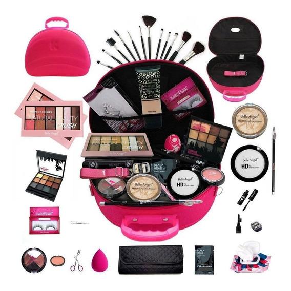 Maleta De Maquiagem Completa Belle Angel + Brinde Bz13