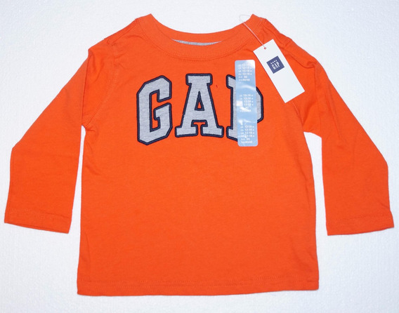 Camiseta Infantil Manga Longa Gap Original Temos Nota Fiscal