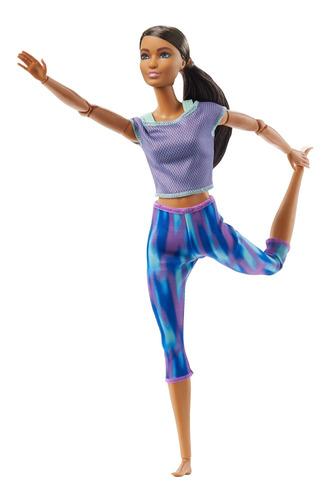 Imagen 1 de 7 de Barbie Fashionista, Muñeca Articulaciones Morado