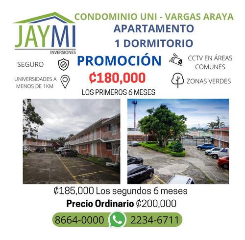 Condominio En Vargas Araya, Montes De Oca. 1 Dormitorio