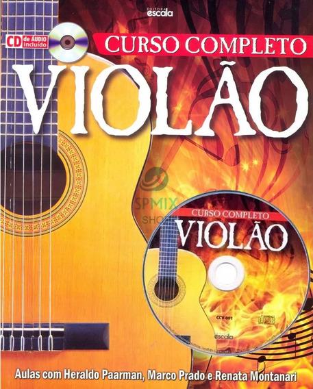 Livro Curso Completo De Violão + Cd De Áudio Incluido