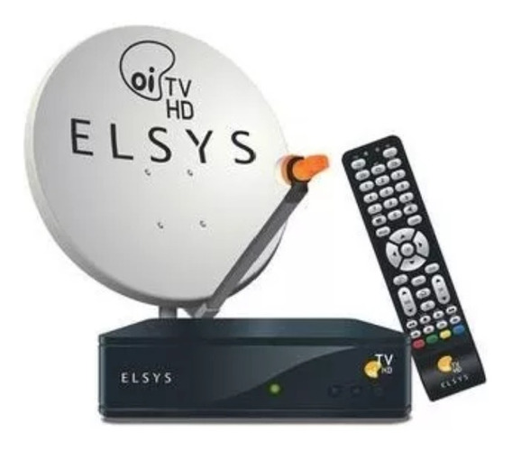 Receptor Elsys Oi Tv Livre Hd Etrs + Antena 60cm Completa