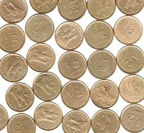 Argentina Lote X10 Monedas 1/2 Centavo Austral 1985 Escasa