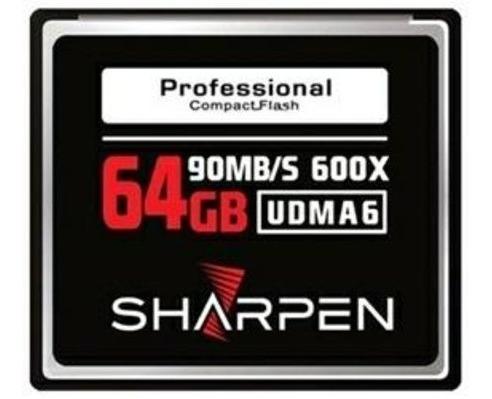 Cartão Compact Flash 64gb Sharpen 90mb/s (600x), Udma6