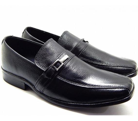 Sapato Masculino Casual Abc Couro Legítimo - Preto