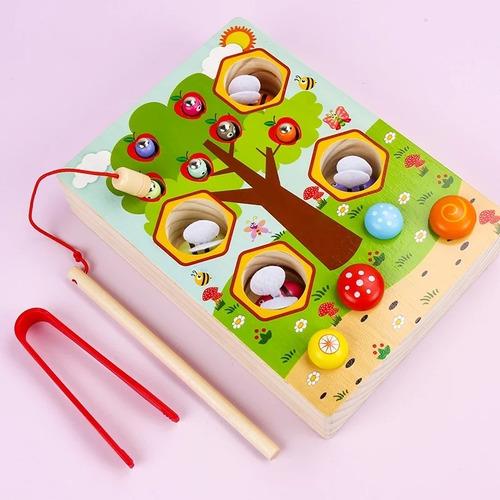 Imagen 1 de 4 de Juego Abejitas Montessori Imando Motricidad Estimulación