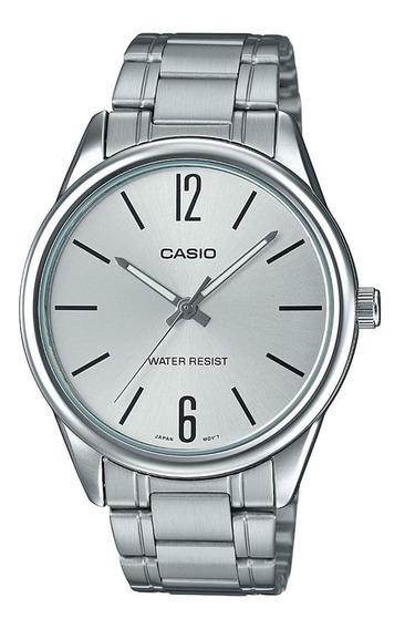 Relógio Casio Collection Unissex Prata Mtp-v005d-7budf