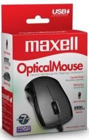 Mouse Optico Usb Maxell Original Pc Notebook - Factura A / B
