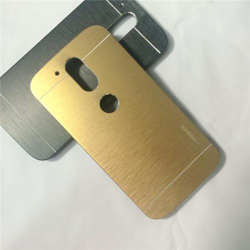 Case Para Motorola Moto G4 Metálico De Aluminio Dorado